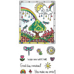 Hampton Art - Color Me Collection - Clear Acrylic Stamps - Sunshine
