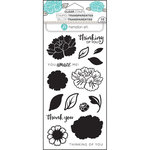Hampton Art - Clear Acrylic Stamps - Layer Flower Amaze