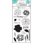 Hampton Art - Clear Acrylic Stamps - Layer Flower Happy