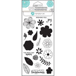 Hampton Art - Clear Acrylic Stamps - Layer Flower Joy