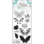 Hampton Art - Clear Acrylic Stamps - Layer Butterfly