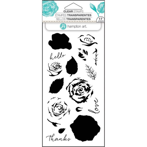 Hampton Art - Clear Acrylic Stamps - Layer Roses