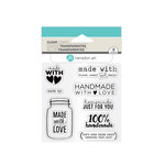 Hampton Art - Clear Acrylic Stamps - Made with Love