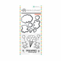 Hampton Art - Die and Clear Acrylic Stamp Set - Up We Go