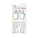 Hampton Art - Die and Clear Acrylic Stamp Set - Dos Amigos