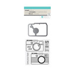 Hampton Art - Die and Clear Acrylic Stamp Set - Smile