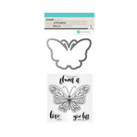 Hampton Art - Die and Clear Acrylic Stamp Set - Lift Me Up