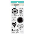 Hampton Art - Clear Acrylic Stamps - Mr  Mrs