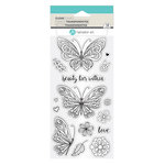 Hampton Art - Clear Acrylic Stamps - Beauty Within