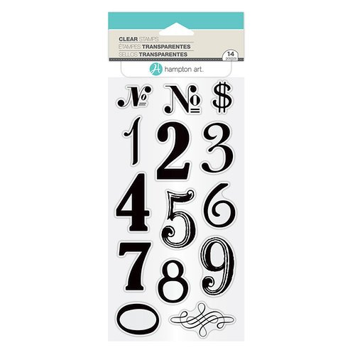 Hampton Art - Clear Acrylic Stamps - Numbers