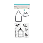 Hampton Art - Die and Clear Acrylic Stamp Set - Live Your Dreams