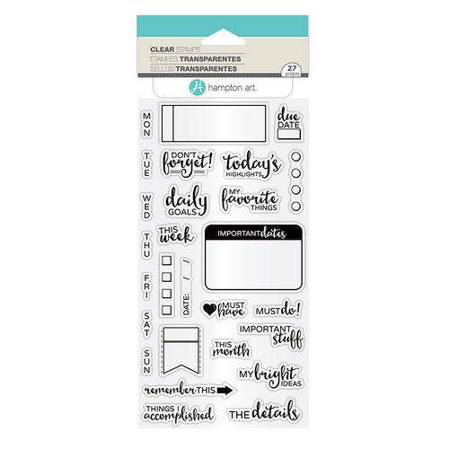 Hampton Art - Clear Acrylic Stamps - The Details