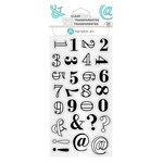 Hampton Art - Clear Acrylic Stamps - Layers Numbers