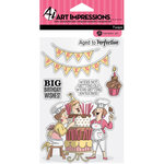 Hampton Art - Clear Acrylic Stamps - Big Birthday Wishes