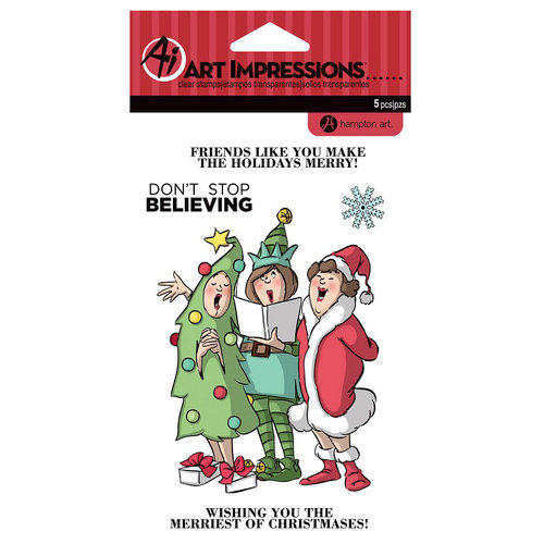 Art Impressions - Christmas - Clear Photopolymer Stamp Set - Merriest