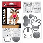 Art Impressions - PopCards Collection - Christmas - Stamp and Die Set - Reindeer