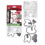 Art Impressions - PopCards Collection - Christmas - Stamp and Die Set - Santa
