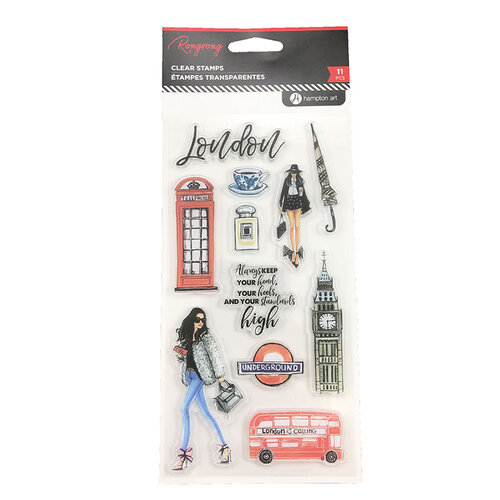 Hampton Art - Clear Acrylic Stamps - London