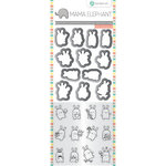 Hampton Art - Die and Clear Acrylic Stamp Set - Mini Bunny Agenda