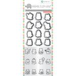 Hampton Art - Die and Clear Acrylic Stamp Set - Mini Cat Agenda