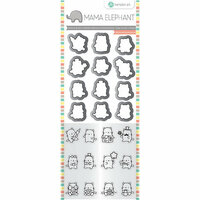 Hampton Art - Die and Clear Acrylic Stamp Set - Mini Cat Agenda