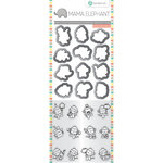 Hampton Art - Die and Clear Acrylic Stamp Set - Mini Monkey Agenda