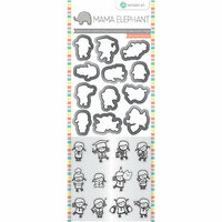 Hampton Art - Die and Clear Acrylic Stamp Set - Mini Girl Agenda