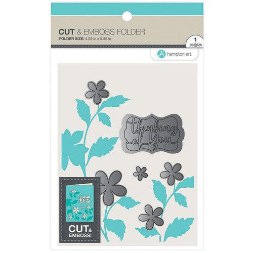 Hampton Art - Cut and Emboss Folder - Thinking of You