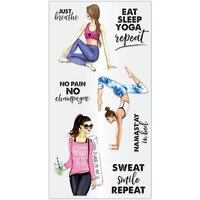 Hampton Art - Clear Acrylic Stamps - Just Breathe