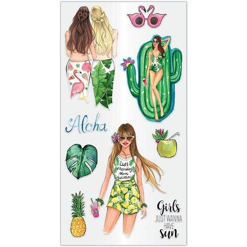 Hampton Art - Clear Acrylic Stamps - Aloha