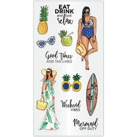 Hampton Art - Clear Acrylic Stamps - Just Relax