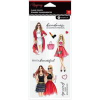 Hampton Art - Clear Acrylic Stamps - Kindness Always In Fashion