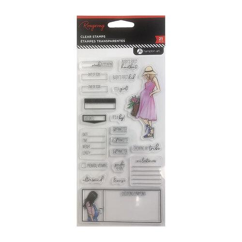 Hampton Art - Clear Acrylic Stamps - Pregnancy Tracker
