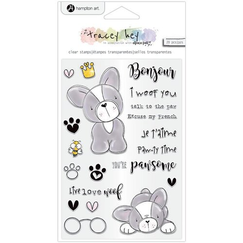 Hampton Art - Clear Acrylic Stamps - Frenchie