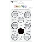 Hampton Art - Clear Acrylic Stamps - Dotty Definitions