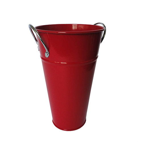 Hampton Art - Tin Vase with Handle - Small - Red