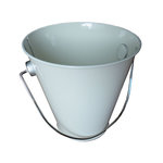 Hampton Art - Tin Pail - Small - White