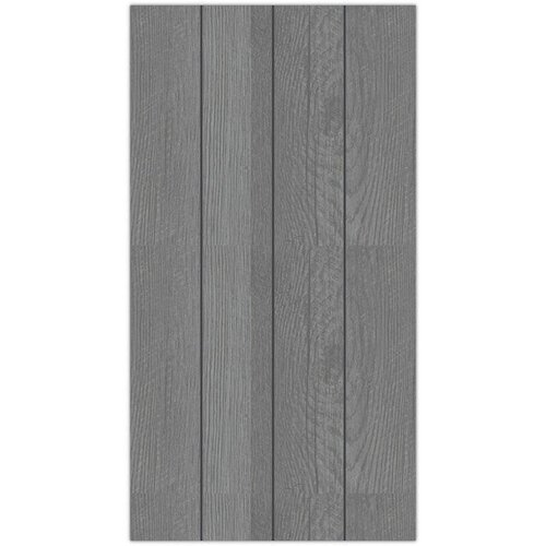 Hampton Art - 8 x 15 Wood Plank - Gray