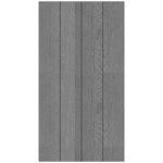 Hampton Art - 8 x 15 Wood Plank - Gray