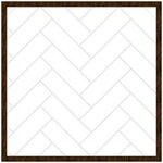 Hampton Art - 16 x 16 Subway Tile - Rustic Framed