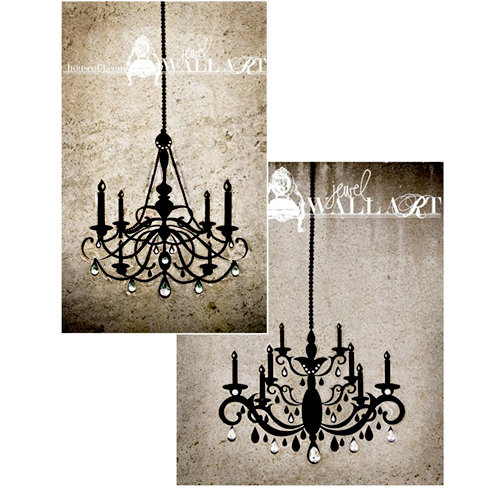 House Of 3 - Heidi Swapp - Jewel Wall Art - Double Chandelier