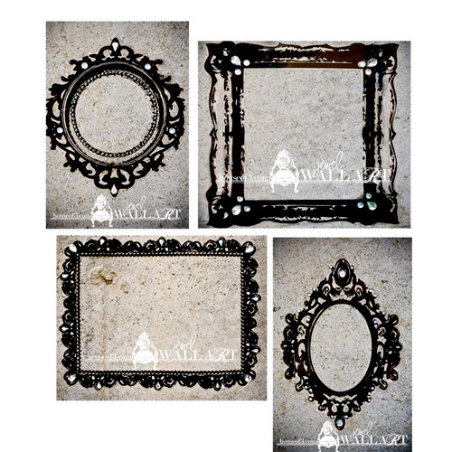 House Of 3 - Heidi Swapp - Jewel Wall Art - Ornate Frames