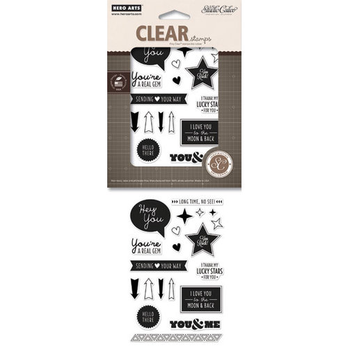 Hero Arts - Studio Calico - Poly Clear - Clear Acrylic Stamps - Darling Sentiments