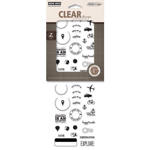 Hero Arts - Studio Calico - Here and There Collection - Poly Clear - Clear Acrylic Stamps - Come Fly With Me
