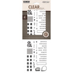 Hero Arts - Studio Calico - Snippets Collection - Poly Clear - Clear Acrylic Stamps - Months