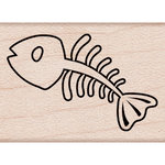 Hero Arts - Woodblock - Wood Mounted Stamps - Fishbone