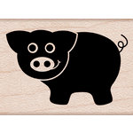 Hero Arts - Critters Collection - Woodblock - Wood Mounted Stamps - Little Pig