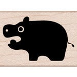 Hero Arts - Critters Collection - Woodblock - Wood Mounted Stamps - Little Hippo