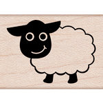 Hero Arts - Critters Collection - Woodblock - Wood Mounted Stamps - Little Sheep