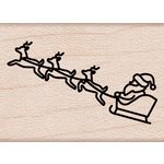 Hero Arts - Destination Collection - Christmas - Woodblock - Wood Mounted Stamps - Santa's Sleigh